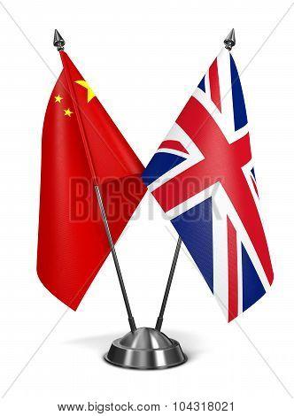 China and United Kingdom - Miniature Flags.