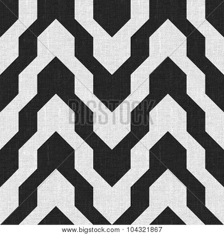 Pattern With Zig Zag In Black And White Color