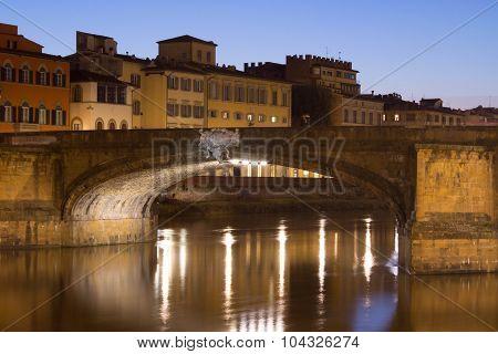 Trinity Bridge In Florence
