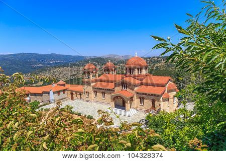 christian orthodox monastery in Malevi, Peloponnese, Greece