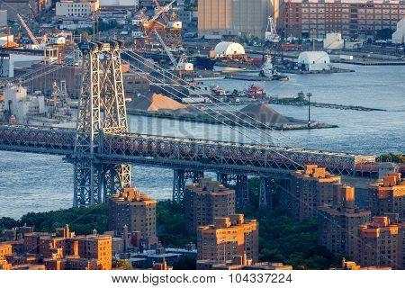 Williamsburg Bridge And East River, Manhattan, New York City