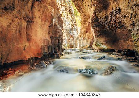 River bed Rio Chillar River In Nerja, Malaga, Spain