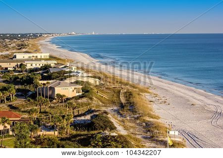 Coastline and beach in Destin, Florida Panhandle. poster