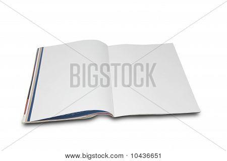 Blank white page magazine