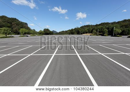 Empty car parking lot