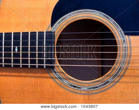 Guitar Sound Hole Closeup