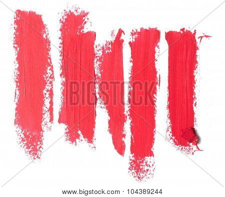 Close Up Of A  Lipstick Stroke