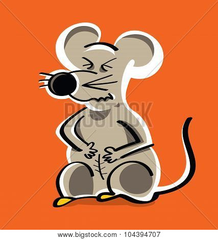 young laboratory rat in pain