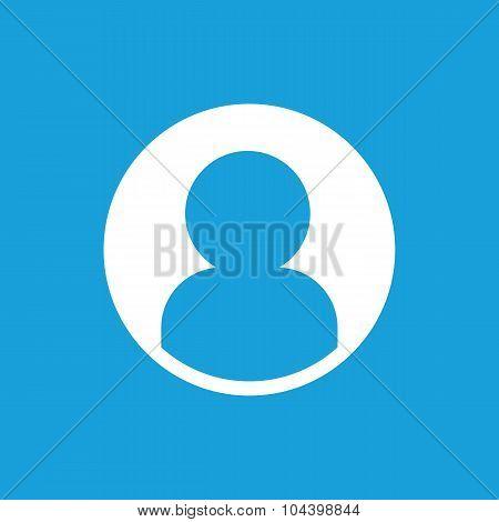 Profile icon, white