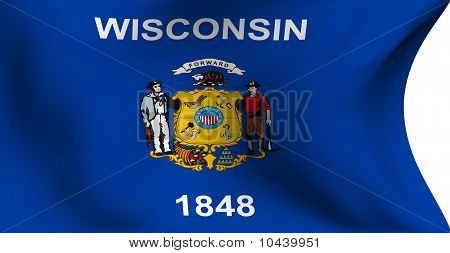Flag Of Wisconsin, Usa