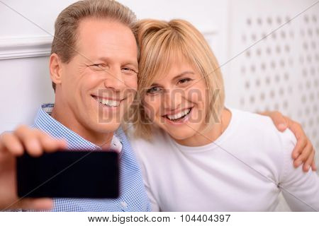 Pleasant couple bonding to each other
