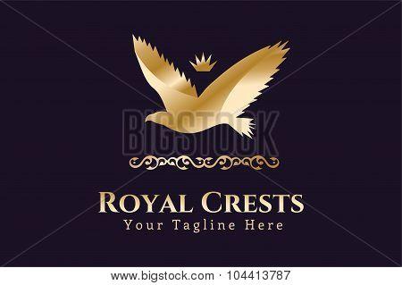 Royal logo vector Eagle Kings symbol