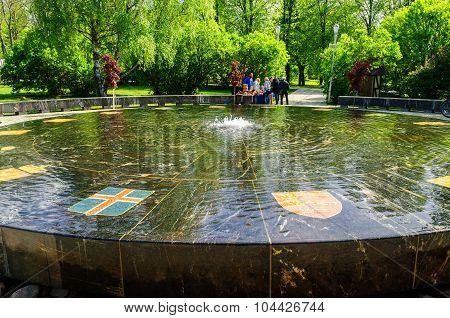 Hanseatic Fountain In Veliky Novgorod