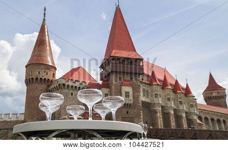 Event at the Corvin Castle or Hunyadi Castle in Hunedoara, Romania.