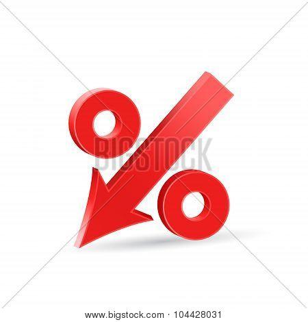 Percent Down Icon