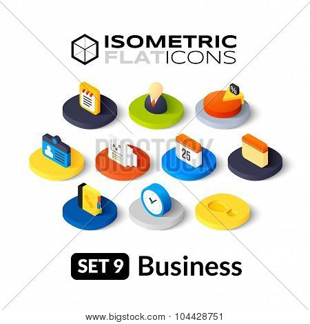 Isometric flat icons set 9