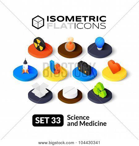 Isometric flat icons set 33