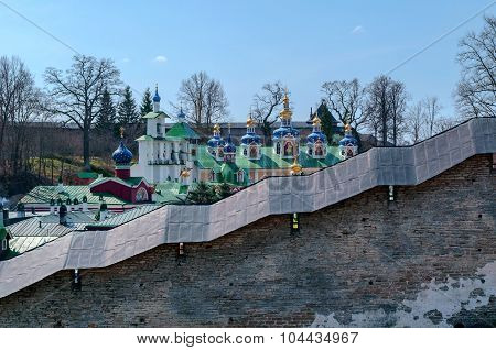 Holy Dormition Pskov-Caves Monastery in Pechory Russia poster