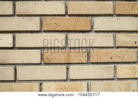 Wall Of New Refractory Bricks Closeup