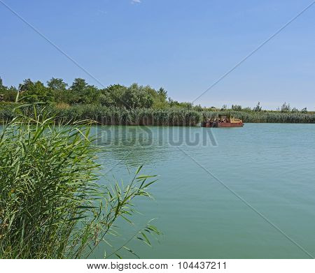Lake And Dredging Boat