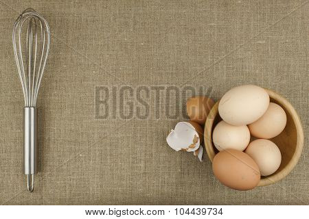 Homemade chicken eggs. Traditional food with protein.