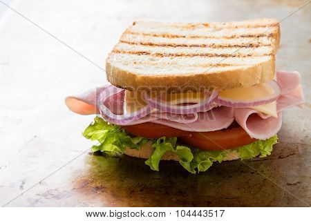 Toast Ham Sandwich