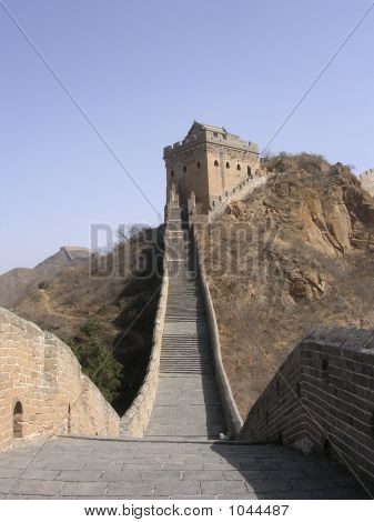 the great wall of china near simatai. poster