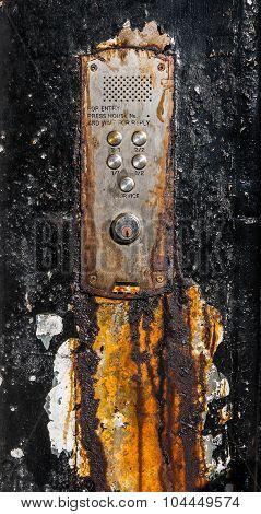 Rusty Old Glasgow Flat Buzzers