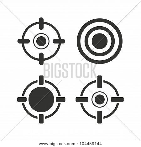 Crosshair icons. Target aim signs symbols.