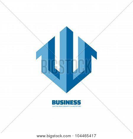 Business abstract symbol - vector logo concept illustration. Abstract vector logo. Vertical stripes.