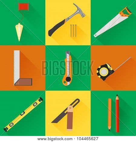 Carpenter Tool flat icons