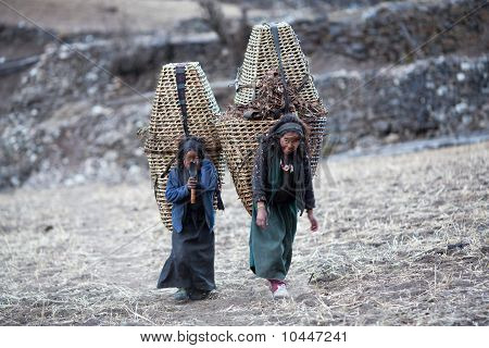 Two Tibetan Girls
