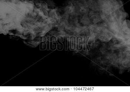 Abstract Gray Smoke Hookah. Close-up.