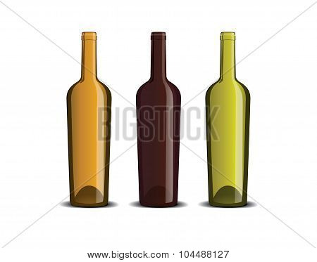 Mockup Of The Wine Bottle