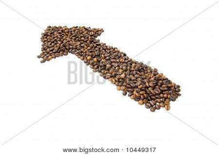 Arrow Made Of Coffee Beans