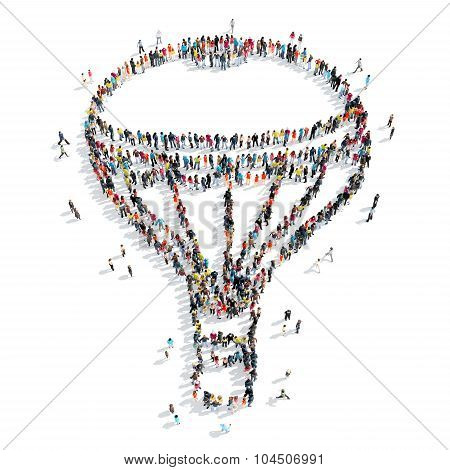people form air balloon cartoon