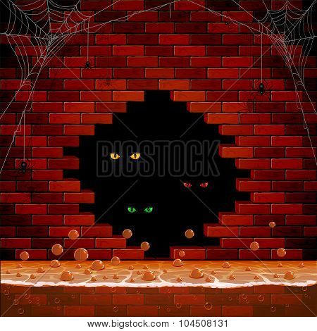 Eye In The Hole Of The Brick Wall