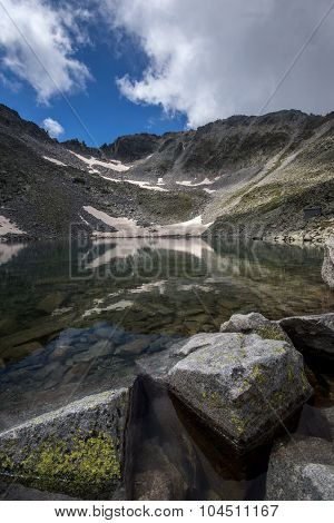 Rila Mountain, Ledenoto (Ice) lake and Musala Peak