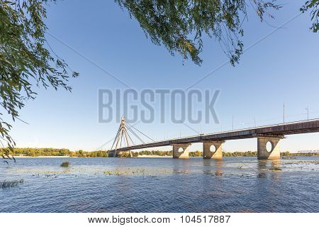 View Of The Moskoksky  Bridge In Kiev