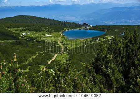 Lake Bezbog and Bezbog hut, Pirin Mountain