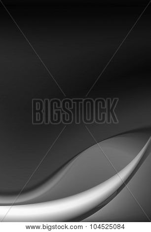 Silky satin curtain with wavy patterns black color