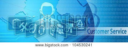 Customer Service Communication Banner