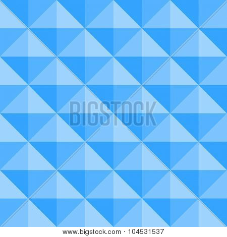 Blue tile seamless background with rhombic elements