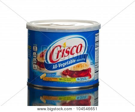 MIAMI, USA - February 9, 2015: Can of Crisco�® All-Vegetable Shortening is great for baking.