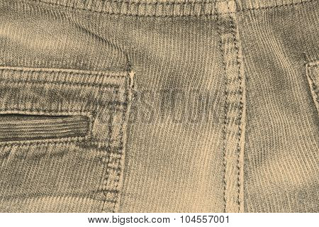 texture of fabric material - corduroy from men´s pants