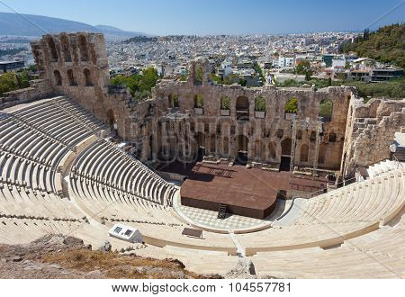The Odeon Of Herodes Atticus, Athens.