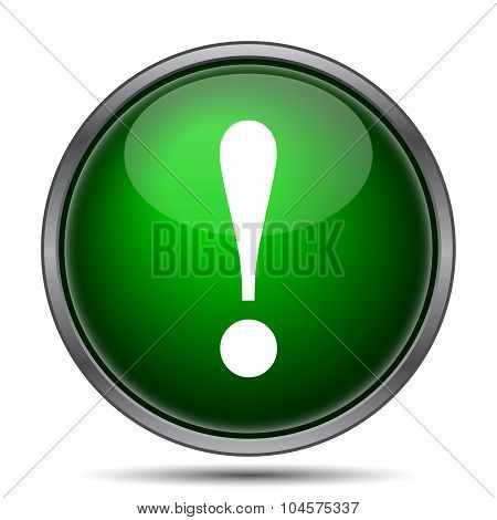 Attention icon. Internet button on white background. poster