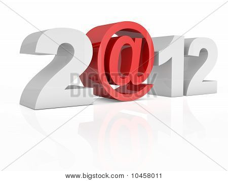 Text 2@12 2012 Isolated On White Background