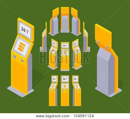 Isometric payment terminals