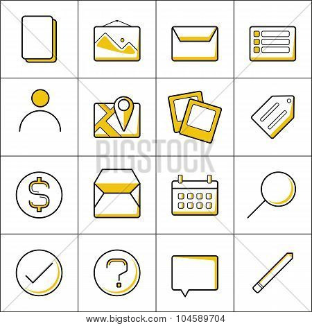 Outline Business Icons